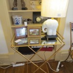 Table, Picture Frames & Lamp