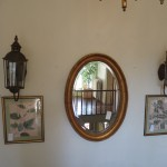 Prints, Mirror, & Sconces